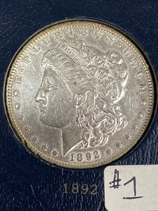 1892 Morgan Silver Dollar ...