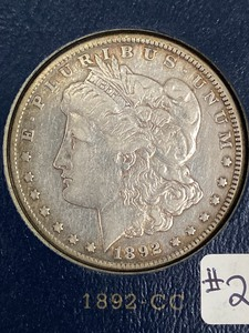 1892-CC Morgan Silver Dollar ...