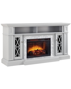 Home Decorators Collection Parkbridge 68 in. Freestanding Infrared Electric Fireplace TV  in good conditions