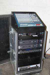 Mobile Professional Audio Equipment Rack Case w/ Allen & Heath Mixer Power Conditioner Professional Equalizers EQ and MORE!