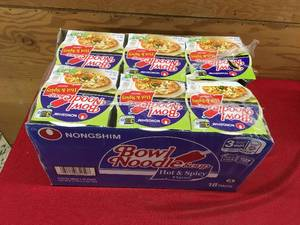 18 Pack Hot & Spicy Chicken Noodle Bowls, Retail $11.99