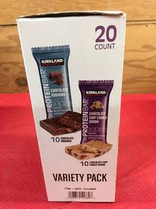 Kirkland Signature Protein Bar 20 Pack, Retail $17.99