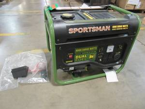 Sportsman 4,000/3,500-Watt Dual Fuel Powered Portable Generator, Runs on LPG or Regular Gasoline - Cracked Airfilter, GEN4000DF