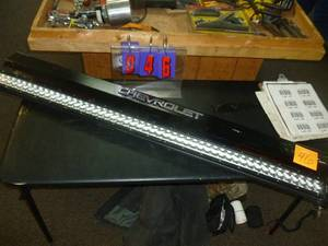 Chevrolet Tailgate Cap & 4' LED Light Bar. As shown. *SEE TERMS