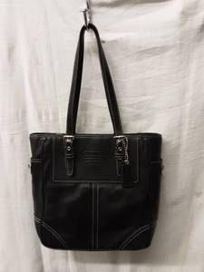 Coach Genuine Leather Black Handbag