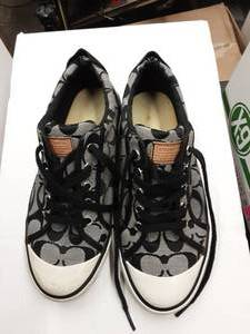 Coach Black Signature Sneakers Size 38.5 (8-8-1/2)