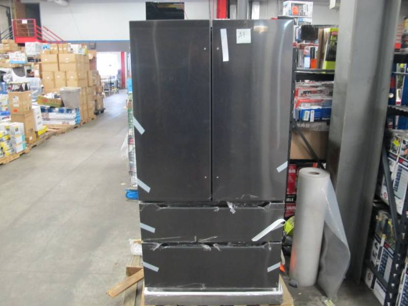 22.5 Cu. Ft. Counter-Depth 4-Door French Door Refrigerator - MODEL: MRQ23B4AST - NEW - Dented