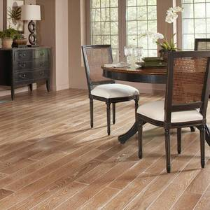 (768 SQ FT)Blue Ridge Hardwood Flooring Oak Charleston Sand Wire Brushed 3/4 in. Thick x 3 in. Wide x Varying Length Solid Hardwood Flooring(768 SQ FT)