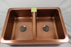 Modern Farmhouse™ Smooth Copper Sink W33XL22