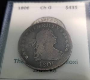 1806 US DRAPED BUST QUARTER