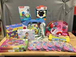 Fisher Price, Play-Doh, TY Beanie, Disney Princess, Hello Kitty- HUGE Mixed Lot of Toys! Great for resellers, gifts, birthday parties