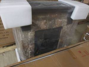 Faux Stone Fireplace open box Retai...