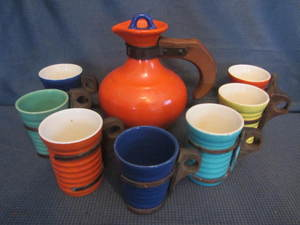 Ceramic Pitcher & Mugs