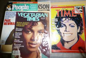 Scrapbook and magazines of Michael ...