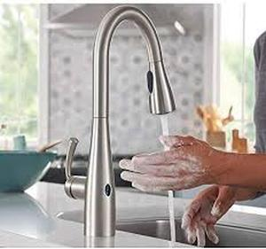 Essie Touchless Single-Handle Pull-down Sprayer Kitchen Faucet in Spot Resist Stainless 87014EWSRS