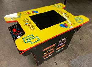 Arcade1Up - Deluxe 8-in-1 Head to Head Cocktail Table with Pac-Man and Galaga - Black