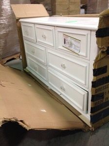 Jenna 7-Drawer White Dresser IN GOOD CONDITIONS