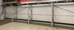 Industrial 4-Section Pallet Racking Lot