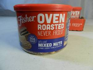 New Case of Fisher Deluxe Mixed Nuts