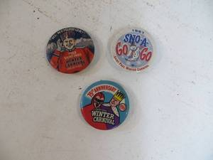 9 VINTAGE St. Paul Winter Carnival Pinback Buttons