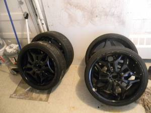 SET OF 4 RIMS & TIRES! - SEE PICTURES!
