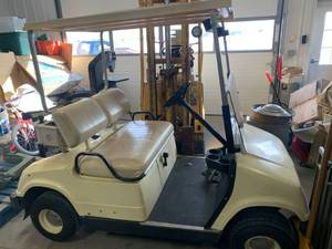 Yamaha Electric Golf Cart, Charger, and Cover