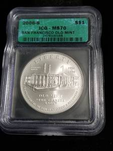 2006-S US SILVER DOLLAR SAN FRANCISCO OLD MINT MS70 ICG