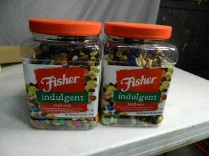 2 New Containers of Fisher Indulgent Trail Mix