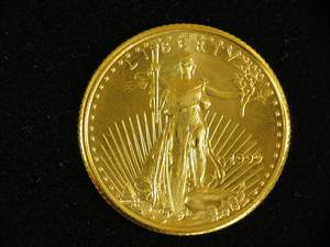 1999 $5 Gold Eagle Coin - 1/10 Ounce