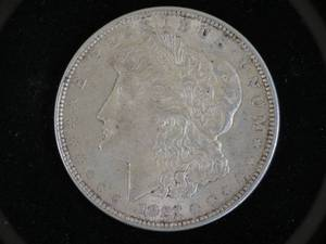 (3) 1921 Morgan Silver Dollar P/D/S