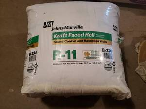 Roll of Faced B-234 R-11 Johns Manville Insulation