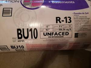 1 Bundle of Unfaced Owens Corning R-13 Insulation