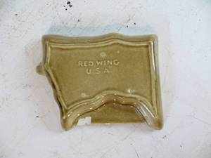 "VINTAGE Red Wing ""Win Twins"" Ceramic Ashtray"