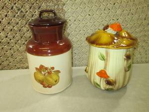 Vintage McCoy Cookie Jar and Mushro...