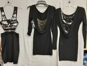 3-Little Black Dresses (Size S) One With Tags.