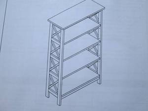 Unfinished Open Bookcase 48Hx30W op...