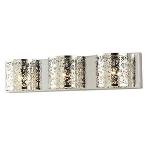 PALLET With 100 PC Home Decorators Collection Carterton 3-Light Chrome Vanity Light with Crystal Accents New RETAIL $10900