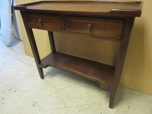 SOLID WOOD SIDE TABLE, WITH TWO DRAWERS