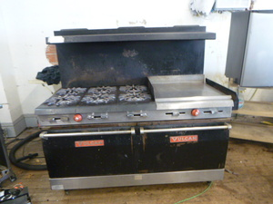 Vulcan 6 Burner Stove with Griddle and 2 Ovens
