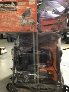 Pallet with Ridgid Power Tools customer returns
