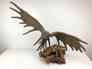 INTRICATELY Hand Carved Wooden Eagle Sculpture, SIGNED and NUMBERED, Limited Piece