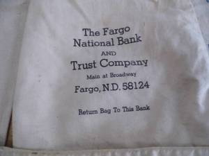 Lot of 5 Vintage Canvas Bank Bags