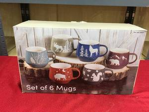Baum Wilderness Mug 6 Pc, Retail $17.99