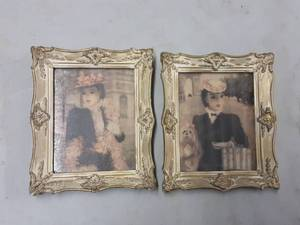 Pair Of Vintage Collectible Cherry Jeffe Huldah Victorian Prints 8x10