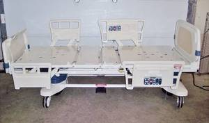 Stryker Critical Care Power Motorized Adjustable Hospital Nursing Home In-Home Health Patient Care Bed Built In Weight Scale & ZONE Bed-Exit Alarm - Plugs Into Regular Light Socket - THIS BED IS BETTER THAN THEY HAVE IN SOME HOSPITALS!!