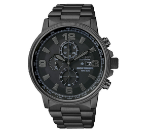 Brand New Citizen Men's Eco-Drive Nighthawk Blackout Chronograph Watch