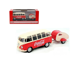 "Brand New 1962 Volkswagen Samba Bus ""100 Years Anniversary of the Coca-Cola Bottle"" 1/43 Diecast Model"