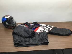 Men's Snowmobile Polaris Helmet and Jacket.