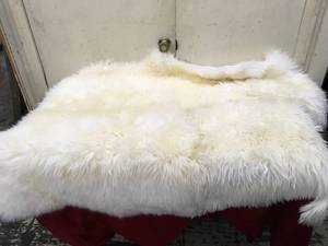 Sheepskin Quad Rug Ivory, Retail $109.99