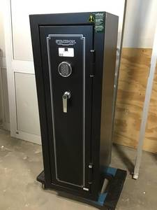 Stack-On 14-Gun Safe Electronic Lock in Matte Black